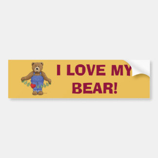 Loving Brown Bear Bumper Sticker