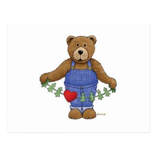 Loving Brown Bear Postcard