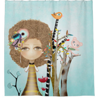 Loving can heal shower curtain
