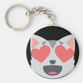 Loving Cat Emoji Keychain