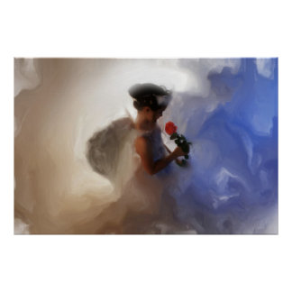 Loving Child Guardian Angel Painting CANVAS Poster