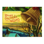 loving christmas wishes post card