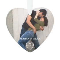 Loving Couple Christmas Keepsake Ornament