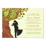 Loving Couple Initials Oak Tree Fall Bridal Shower Personalized Announcement