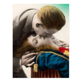 Loving Couple Vintage Postcard