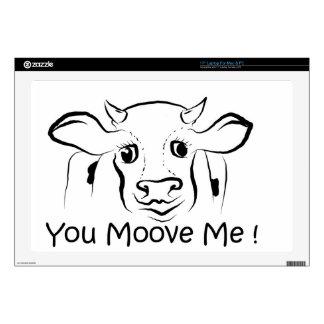 "Loving Cow.jpg 17"" Laptop Skin"