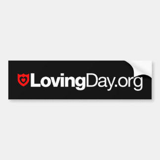 Loving Day Bumper Sticker in Black