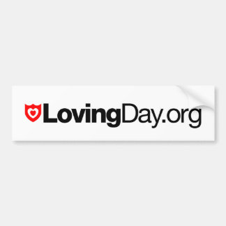 Loving Day Bumper Sticker in White