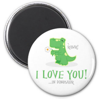 Loving Dinosaur Magnet