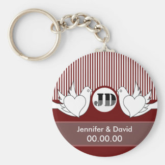 Loving Doves Wedding Keychains