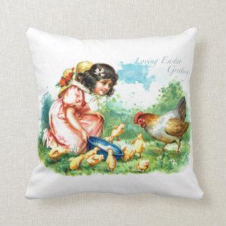 Loving Easter Greetings Pillow