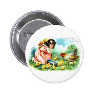 Loving Easter Greetings Pinback Button