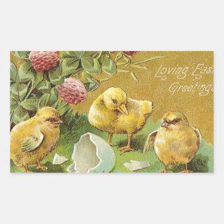 Loving Easter Greetings Rectangular Sticker