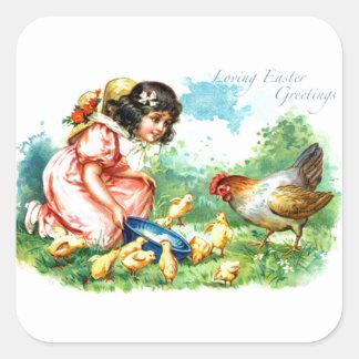 Loving Easter Greetings Square Sticker