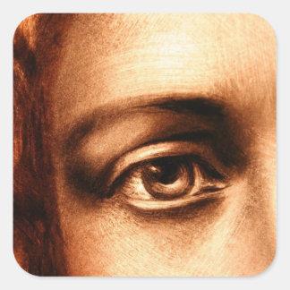 Loving Eye of Jesus Christ Square Sticker