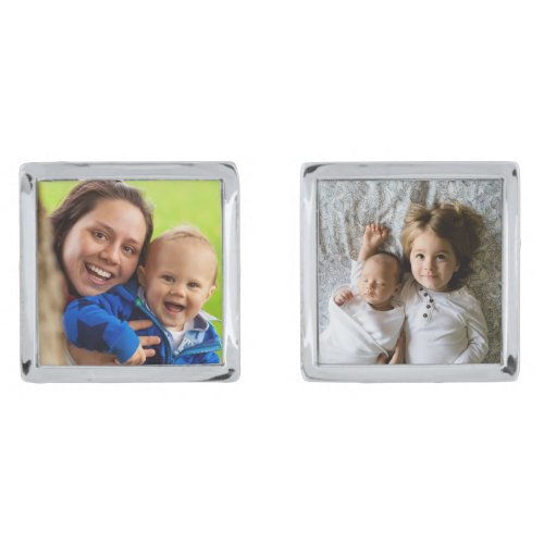 Loving Family time upload your own photo frame Cufflinks