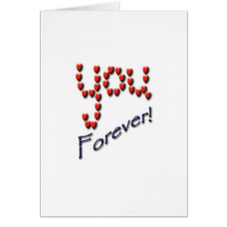 Loving forever shouldn't take many words. card