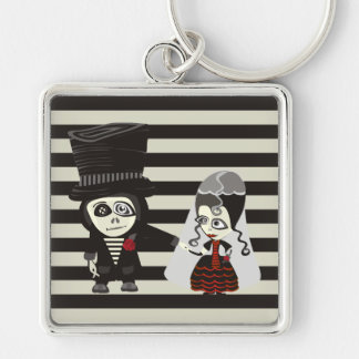 Loving Gothic Wedding Keychain