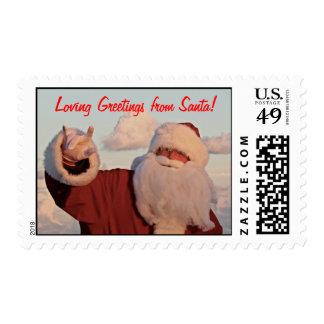 Loving Greetings from Santa! Postage Stamps