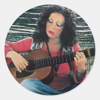 LOVING GUITAR, Country Blues Folk  Pop Music Stickers