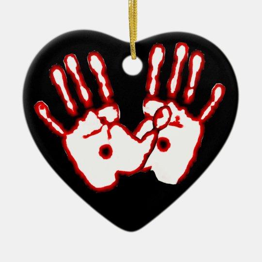 Loving Hands - John 20:27 Ceramic Ornament