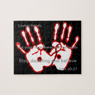 Loving Hands - John 20:27 Jigsaw Puzzle
