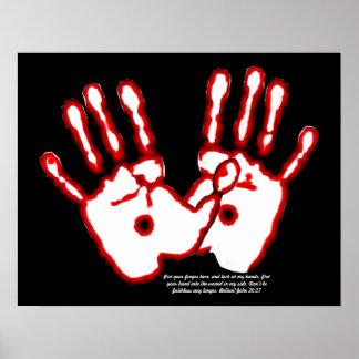 Loving Hands - John 20:27 Poster