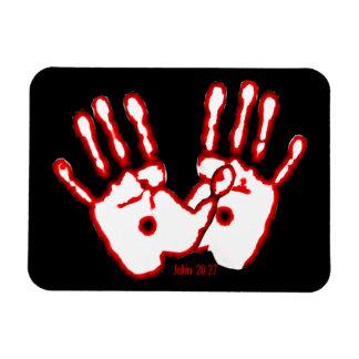 Loving Hands - John 20:27 Vinyl Magnets