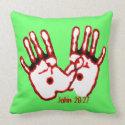 Loving Hands - John 20:27 Throw Pillows