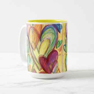 Loving Healing Hearts Art Custom Coffee Cups