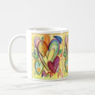 Loving Healing Hearts Art Custom Coffee Mug