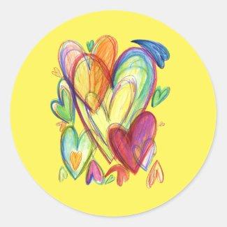 Loving Healing Hearts Art Custom Decal Stickers