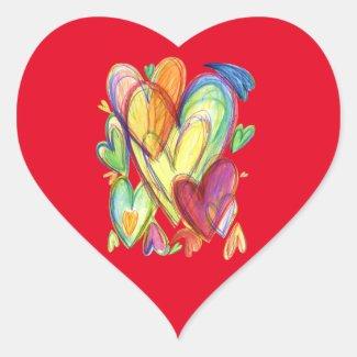 Loving Healing Hearts Art Custom Sticker Decals