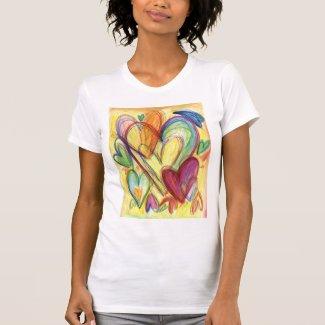 Loving Healing Hearts Art Custom T-Shirt