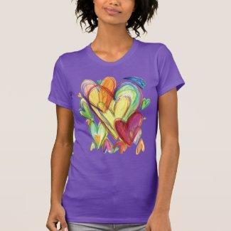 Loving Healing Hearts Art Custom T-Shirts