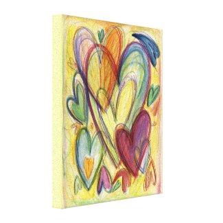 Loving Healing Hearts Art Painting Canvas Wrap