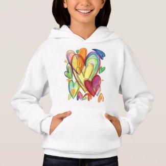 Loving Healing Hearts Art Rainbow Hoodie