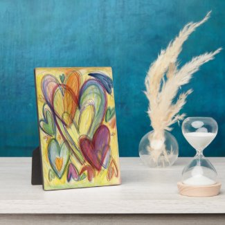 Loving Healing Hearts Artwork Painting Plaque Sign