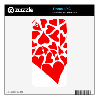 Loving Hearts iPhone 4S Skins