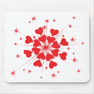 loving hearts mouse pad