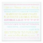 Loving Hearts Pastel Wedding Invitation
