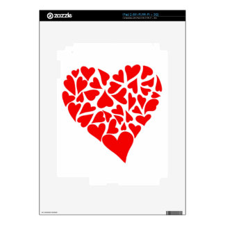 Loving Hearts Decal For iPad 2