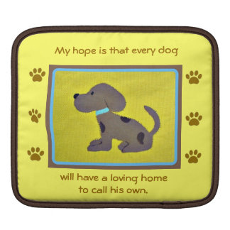 loving homes for dogs  iPad/laptop sleeve