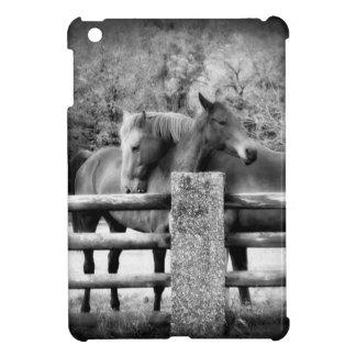 Loving Horses Vertical Black and White Photo iPad Mini Cases