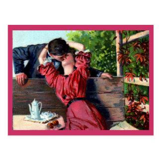 Loving Kiss Valentine Postcard