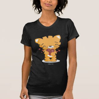 Loving Kitten Ladies Black T-Shirt