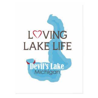 Loving Lake Life, Devil's Lake, Michigan Postcard