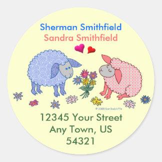 Loving Lambs Classic Round Sticker