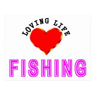 Loving Life Fishing Postcard