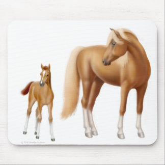 Loving Mare Her Foal Mousepad